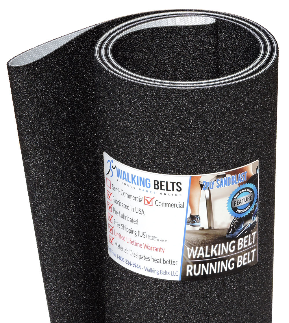 "Sole F63 Short 118"" Treadmill Walking Belt 2ply Sand Blast"